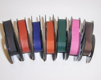 Universal Typewriter Ribbon 1/2 Inch Ribbon 2 inch Spools with Expanding Center Core