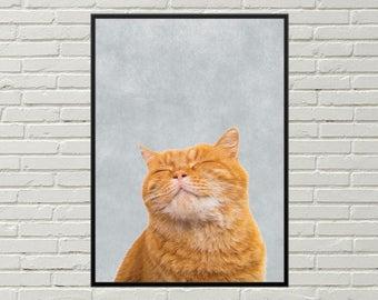 CAT print, cat wall decor, cat picture, printable cat poster, cat decor, cat wall art, cat art print, digital download, digital cat poster