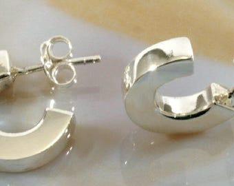 Hoops, Earrings, 925 sterling silver - 2612