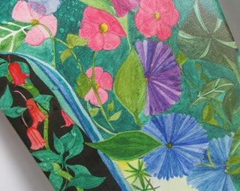 Tropischen Dekor 11 X 14 Giclee Print Karibik Wasserfall Art Floral Art Bad Kunst bunte Kunst Tropical Wandmalerei