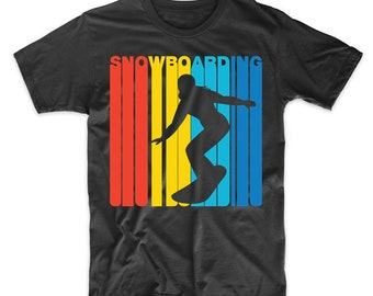 Retro 1970's Style Snowboarding Snowboarder Sports T-Shirt