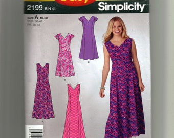 Simplicity Misses' /Miss Petite Pullover Dress In Two Lengths Pattern 2199