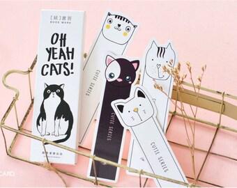 30 PCS Colorful Japanese Cat Bookmark - Unique Bookmark - Bookmarks - Bookmark gift