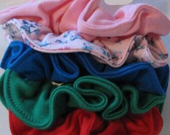 Tricot Jersey cheveux chouchous - grande taille, petite taille, les filles, dames, femmes, accessoires de cheveux, bandes de caoutchouc, cheveux, poney Tails, solides, estampes