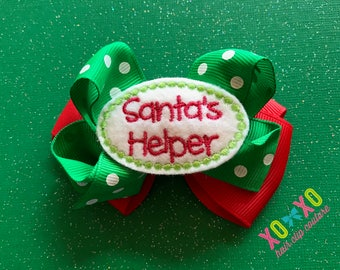 Santa's Helper Bow