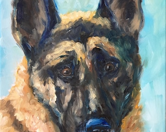 Custom Pet Portraits 11x14 oil on canvas
