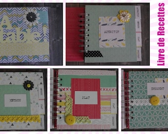 "Spirals for 80 recipes ""Colorful Inspirations"" scrapbooking book - 14x14cm"