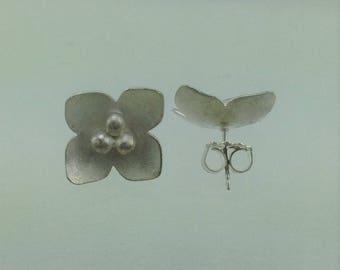 Sterling Silver Bloom Post Earrings