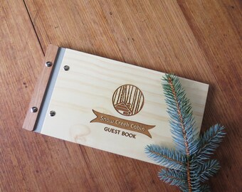 Holiday House Guest book, AirBnB Guest Book, Cabin the the Woods