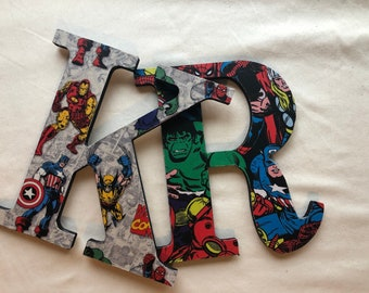 Customized Modge Podge Letters Boys/Baby Letters Avengers, Super Hero, DC, Baby Boy, Harry Potter and More -