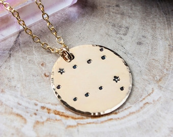 Gemini constellation zodiac necklace. Gift for her. Gold zodiac constellation necklace. Gemini zodiac necklace. Gemini birthday gift. RTS