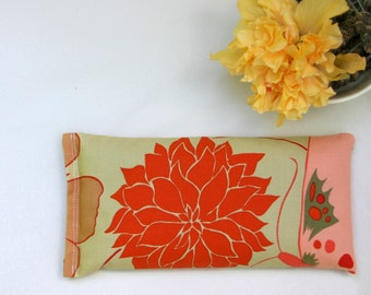 Eye Pillow, Lavender and Flax Seed Eye Pillow - Dahlia and Butterfly Scented Gift Relaxation Yoga Meditation