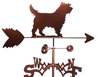 Hand Made Cairn Terrier Dog Weathervane NEW