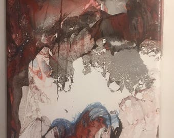 """1-""""Re-Birth"""" abstract spray paint painting"""