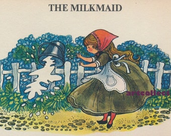 Vintage Image: Milkmaid (NOT A BOOK)