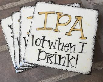 Handpainted Beer Coaster