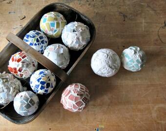 Aqua Ornament, Mosaic Ornament, Holiday Ornament, Holiday Decoration, Christmas Decoration, DIY Christmas, Christmas Ornament, Mosaic Art