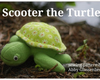 Scooter the Turtle  - PDF Sewing Pattern, Easy to Sew With Step-By-Step Photos and Instructions
