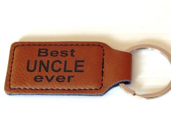 Uncle Fathers Day Gifts - Father's Day Gift for Uncle - Uncle Birthday Gift - Uncle Key chain - Best Uncle Ever - Keychain, KLM013