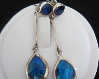 Balinese Paua Shell Sterling Silver Earrings ( S101)
