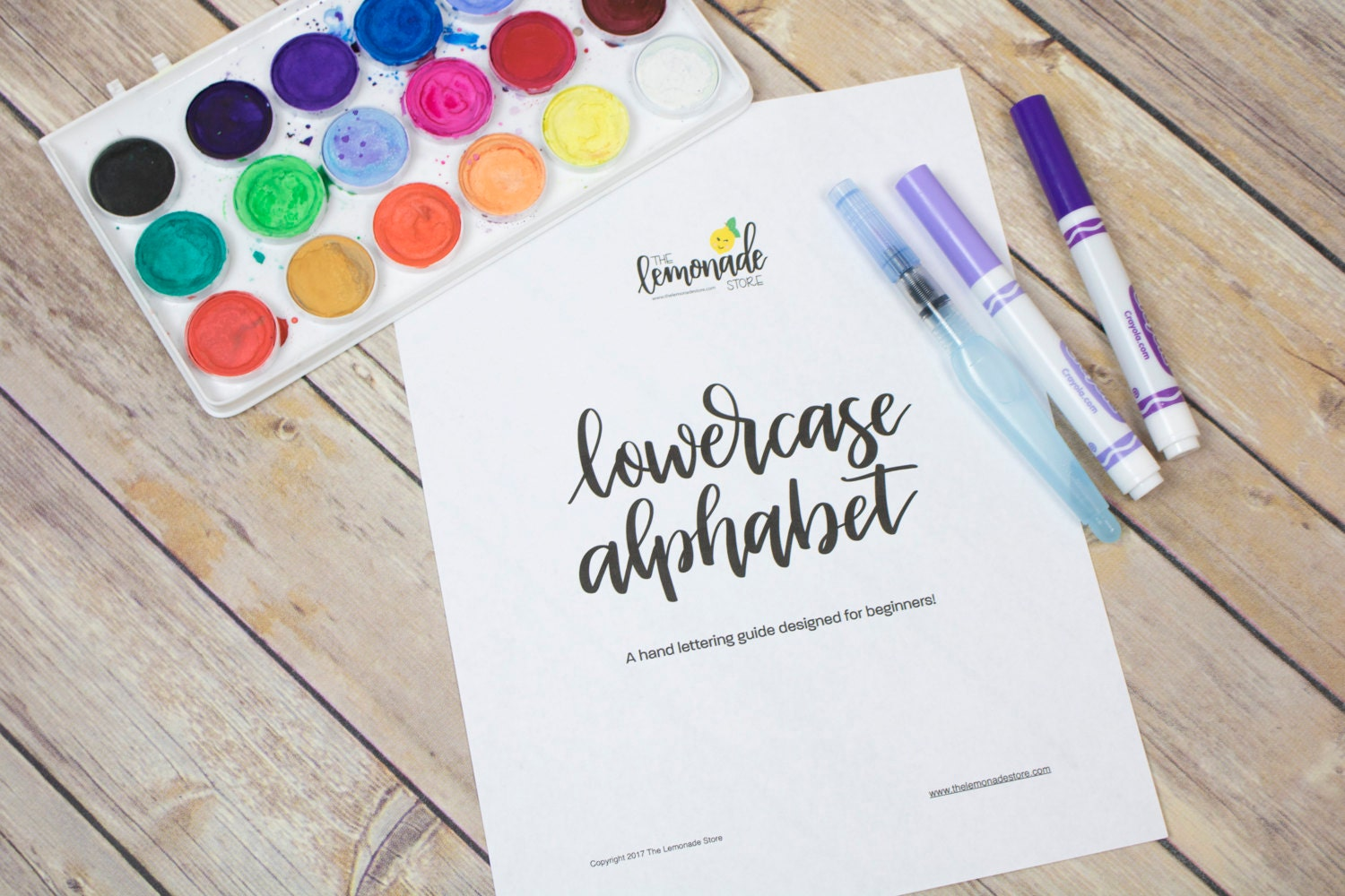 Lowercase alphabet practice guides for beginners hand lettering