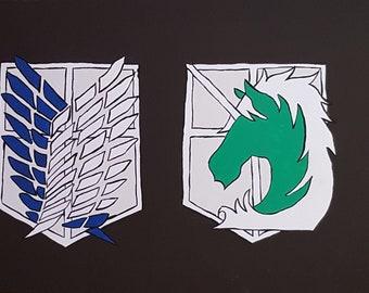 Attack on Titan / Shingeki no Kyojin Wappen Bild XL