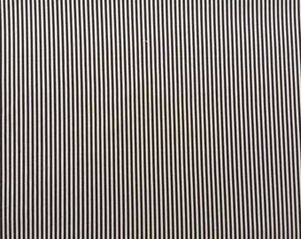 Japanese Sevenberry fabric - Cotton - black stripes - by 50 cm (110 x)