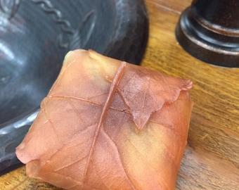 Beautiful Fall Leaf Soap, Decorative Soap, Orange Soap, Autumn Soap, Leaf Shaped Soap