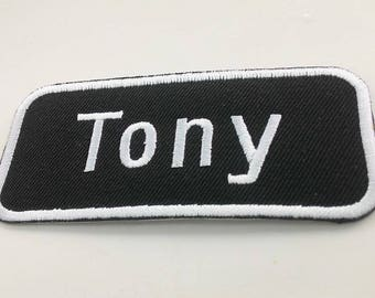 Embroidered Tony badge Iron On Patch.