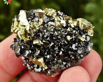 Amazing Sphalerite with Pyrite, Chalcopyrite, Calcite, Crystal,  Mineral, Natural Crystal 446