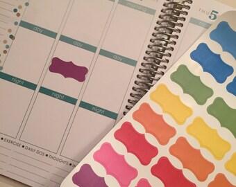 32 Solid Fancy Planner Stickers for Erin Condren Life Planner (ECLP) Reminder Sticker LDD1019