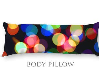 Rainbow Body Pillow-Fleece Bed Pillow Cover-Sleeping Pillow-Extra Large Pillow-Microfiber Pillow Cover-Colorful Pillow Cover-Bed Bolster