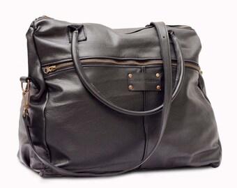 LUKAS Leather Travel Bag, Handmade with Premium Spanish Leather, Weekender Bag, Overnight Bag.
