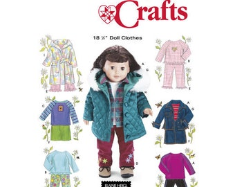 Doll Clothes for 18 Inch Doll Elaine Heigl Designs Simplicity 5733 Uncut Factory Folds Doll Clothes Sewing Pattern
