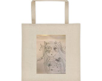 Unique drawing tote bag