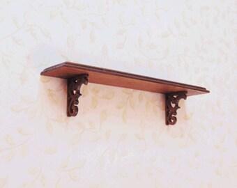 1:12 Scale Dollhouse miniature wall shelf