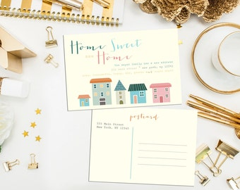 Moving Postcard. Home Sweet Home Moving Announcement. Digital Printable Moving Card. Moving Announcement. Sweet Homes. Home Sweet Home.
