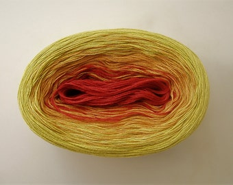 MARGARITA II --mega-- Color Changing Cotton yarn --  865 yards/180 gr -- Fingering Weight