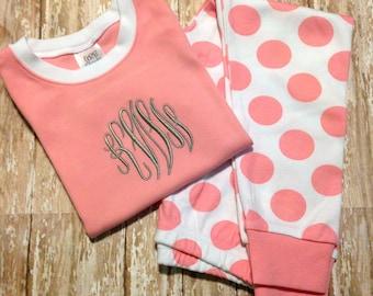 Girls Monogrammed Pajamas