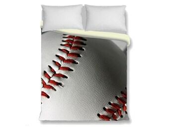 Baseball Duvet Cover-Baseball Bedding-Sports Duvet Cover-Boy/Girl Bedroom Decor-Twin 68x68-Full 79x79-Queen 88x88-King 88x104-Athletic Decor