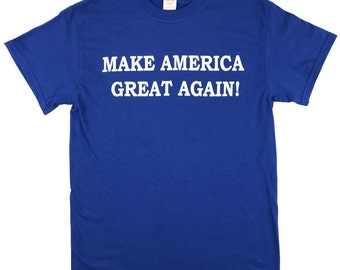 Make America Great Again Donald Trump T Shirt - ROYAL BLUE