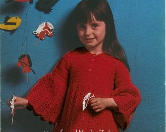 Vintage Crochet Pattern 060 Red Party Dress from WonkyZebra