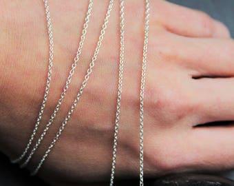 50cm chain links 1, 3 x 1, 6mm Sterling Silver 925 1000, myo supply, DIY jewelry creation