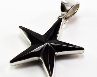 Black Shell Starfish Pendant