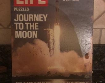 Vintage Journey to the Moon Life Magazine puzzle Apollo Moon Mission 1969