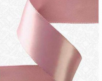 7/8x100 yds Single Face Satin Ribbon - ROSY MAUVE