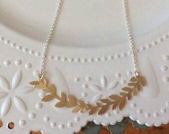Vine Necklace- Brass