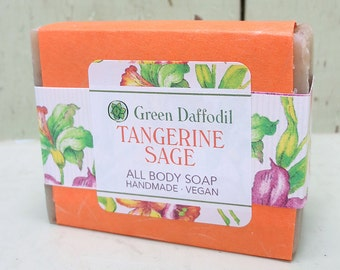 Tangerine Sage Bar Soap - Green Daffodil