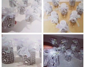 24-  Celebration bubbles .wedding bubbles, bling wedding bubbles, rhinestone bubbles,silver wedding bubbles