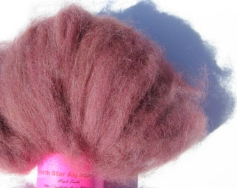 Burgundy Alpaca Roving for Spinning and Felting - 2 ounces